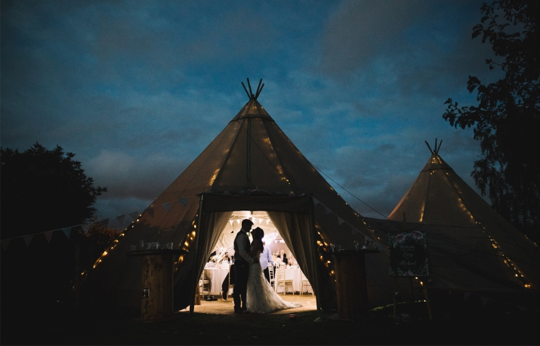 The Tipi Wedding silhouette by samantha broadley photography